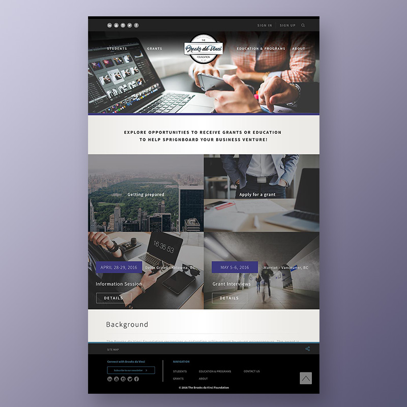 Brooks da Vinci Website Design
