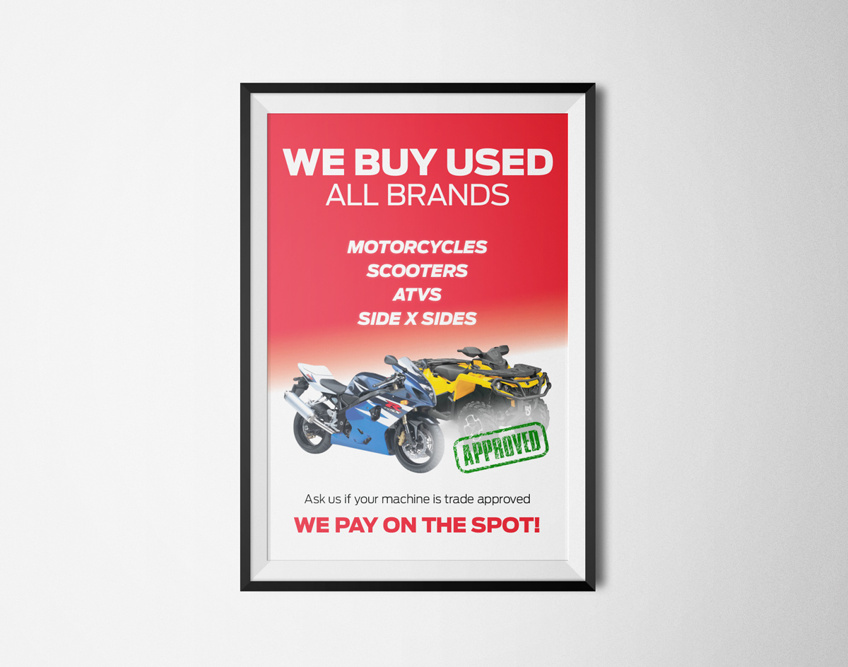 We Buy Used Poster